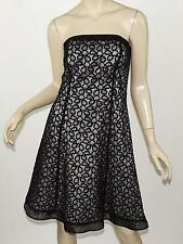 WHITE HOUSE BLACK MARKET Lace Overlay Organza Trim Strapless Party Dress S 6