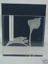 STEPHEN SCHLANSER ART GLASS - 2003 BUD VASE - CALLA LILY DESIGN - SIGNED - NEW