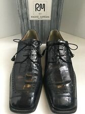 ROMANO MARTEGANI Navy Alligator Oxford Shoes size 12