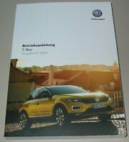 Betriebsanleitung VW T-Roc Typ A1 Bedienungsanleitung Bordbuch Buch 07/2019 NEU!