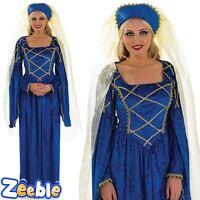 Adult Tudor Lady Fancy Dress Costume Womens Medieval Princess Size UK 8-26