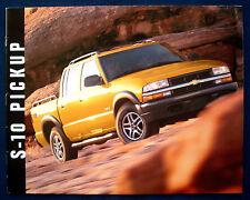 Prospekt brochure 2003 Chevrolet Chevy S-10 Pickup (USA)
