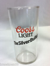 Coors Light Silver Bullet beer glass bar glasses 1 Colorado brewery FQ4
