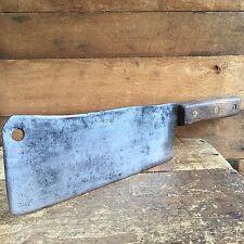 Vintage SPEAR & JACKSON CLEAVER CARBON STEEL Knife Chopper Old Antique Tool #293