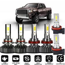 For GMC Terrain 2010-2015 Combo LED Headlight Hi/Low Beam And Fog Light White 6X