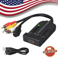 Male AV&S-Video CVBS to HDMI Converter Composite 3RCA to HDMI Adapter 1080P US