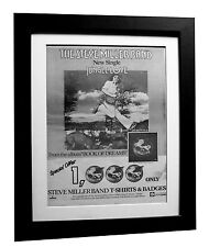 STEVE MILLER BAND+Dreams+Jungle+POSTER+AD+RARE+ORIG 1977+FRAMED+FAST GLOBAL SHIP