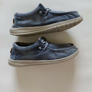 Boys 'Hey Dudes' Blue Denim Size 5-6 GENTLY USED