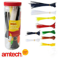 500 Assorted Colours Cable Ties  Length- Zip Tie Red Various Sizes Amtech S0680