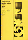 B&O, Bang & Olufsen, Service Manual für Beovision ME 6000 / LE 6000