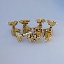 6 Pcs WILKINSON GOLD 3X3 DECO STYLE SEALED GUITAR TUNERS WJ-309-G New