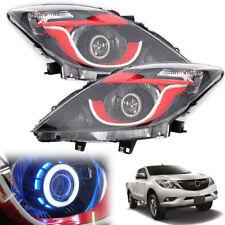 For 12-17 Mazda BT50 Pro Head Lamp Light Led Projector Blue LH+RH
