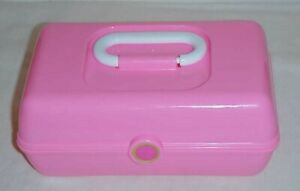 Plastic Storage Box With Handle For Arts Crafts Makeup Toys ect Storing PINK