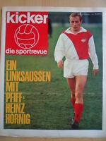 KICKER 11-14.3. 1966 Hornig Uwe Seeler Dortmund-Bayern 3:0 Gladbach-Nürnberg 8:3