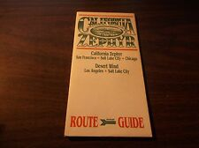 JULY 1994 AMTRAK CALIFORNIA ZEPHYR ROUTE GUIDE