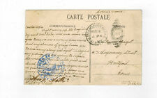 US army post office used post card 1910