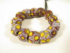 13 alte Millefiori Glasperlen Old African trade beads Murrine Perles Afrozip