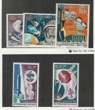 Mali, Postage Stamp, #C33-C35 Mint NH, C42-C43 LH, 1966-67 Space