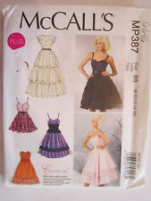 McCalls Tiered Ruffle Dress Party Formal Plus Sz 8-10-12-14-16 SHIPS FREE MP387