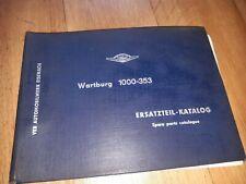 ‼‼ Wartburg Ersatzteilekatalog 353 IFA DDR kein Trabant Eisenach‼‼