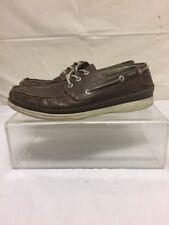 Chaps Mens Brown Leather Boat Deck Shoes Sz 9 M