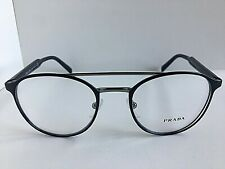 New PRADA VPR 6T0 ZAV-1O1 49mm Round Blue Eyeglasses Frame  #7