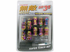 MUTEKI SR35 20PCS WHEELS TUNER LUG + LOCK NUTS (CLOSE END/12X1.5/NEON CHROME) #