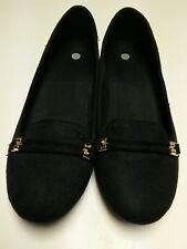 Women's Phyllis Comfort Slip On Flat Shoes Black textile  Sz 9.5 US rubber tread