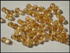 4mm Bicone A-GRADE beads 100 x CHAMPAGNE Crystal Glass Suncatcher Craft Jewelry
