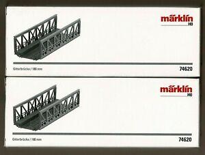 MARKLIN HO TRUSS BRIDGE (2), # 74620, each 180 mm or 7-3/32 inches long
