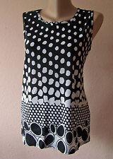 Weichfliessendes Top Shirt Bluse Gr. 40 42 44 schwarz/weiß (L/XL MAG52) Neu