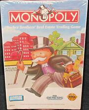 Monopoly Game Sega Genesis Sealed 1992 Real Estate Trading Parker Bros Cartridge