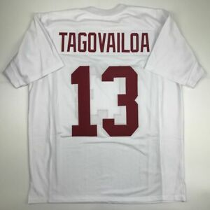 New TUA TAGOVAILOA Alabama White College Custom Stitched Football Jersey Mens XL