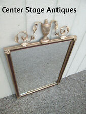 53167 Antique Wood and Gesso Urn Mirror