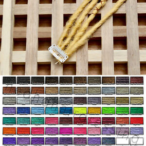 CUSTOM HANDMADE QUAD CLIP-IN SYNTHETIC DREADLOCK DREAD ACCENT SET 4 WITH WRAPS