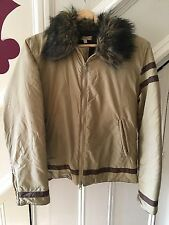 SIZE 38 (12) KOOKAI COFFEE/BROWN JACKET WITH FAUX FUR PARTY/TOWIE/XMAS/SMART £65