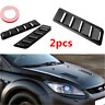 2PCS Universal Black Vent Window Louvers Air Cooling Panel Trim Set For Car Ho%P