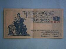 Argentia - Vintage Un Peso Bank Note