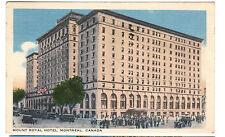 1942 postcard- Mount Royal Hotel, Montreal, Canada