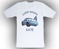 Personalized Cars Sally Birthday T-Shirt Gift Add Name