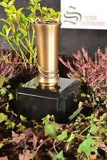 Grabvase aus Messing   Grabschmuck   Grablape   Grablicht   Grab   Vase ->NEU<-