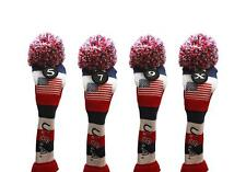 5 7 9 X USA GOLF Driver Headcover Red White Blue KNIT Head Covers Headcovers