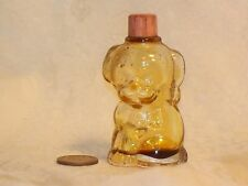 Vtg 1940s FIGURAL Puppy BOTTLE Manon Freres Dog LOVE Mini Perfume Patent pink