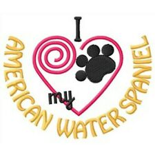 """I """"Heart"""" My American Water Spaniel Short-Sleeved T-Shirt 1349-2 Size S - Xxl"""