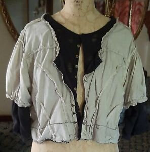 RARE 🙌 Magnolia Pearl Cotton Cleo Jacket/Blouse w Silk & Tulle Undershirt