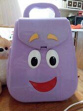 "MY TALKING BACKPACK Dora The Explorer Purple Nickelodeon 2010 Mattel 9"""
