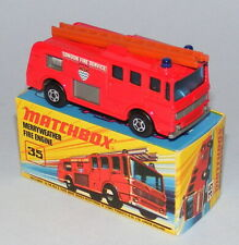 MATCHBOX SUPERFAST #35a MERRYWEATHER FIRE ENGINE RARE BROWN LADDER MINT BOXED