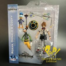 KINGDOM HEARTS Select Series 2 ROXAS Donald & GOOFY Figure Set Diamond Select!