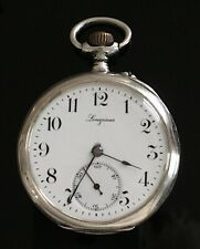 Longines 4 Grand Prix Solid Silver Pocket Watch  c.1910 / montre gousset