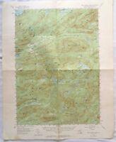 US Geological Survey topographic map WEST CANADA LAKES, NY 1954 Adirondacks